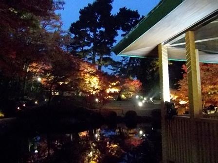 大田黒公園、夜