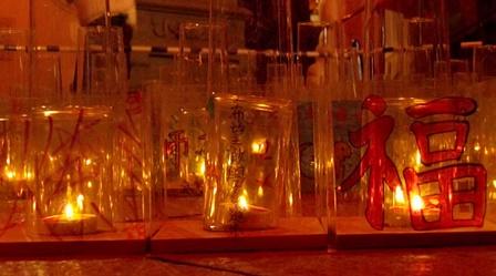 媽祖廟のライトアップ