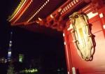 浅草寺は、夜も見ごたえあり、です。そして浅草神社も