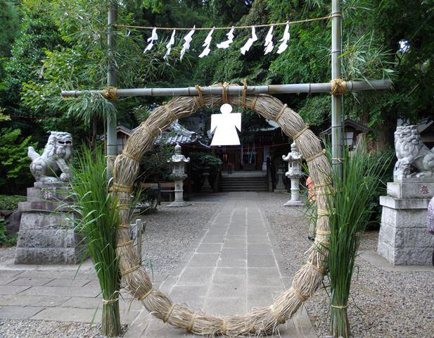 本殿と茅の輪
