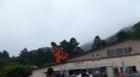芦ノ湖の海賊船を降りて、箱根神社に向かう