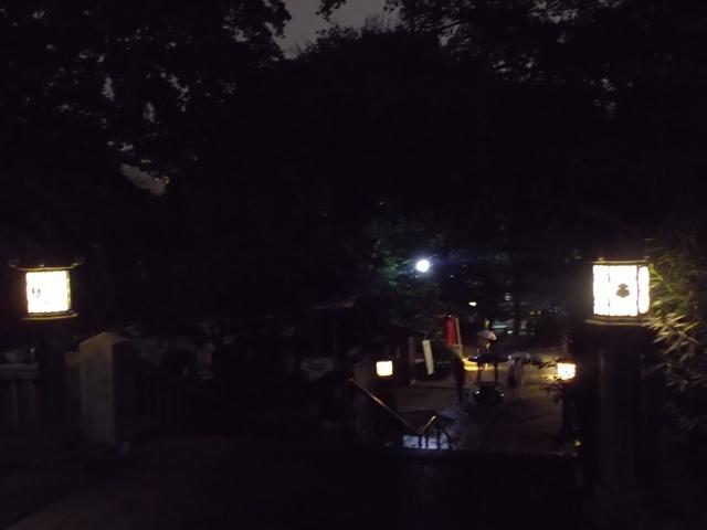 夜間、待乳山聖天
