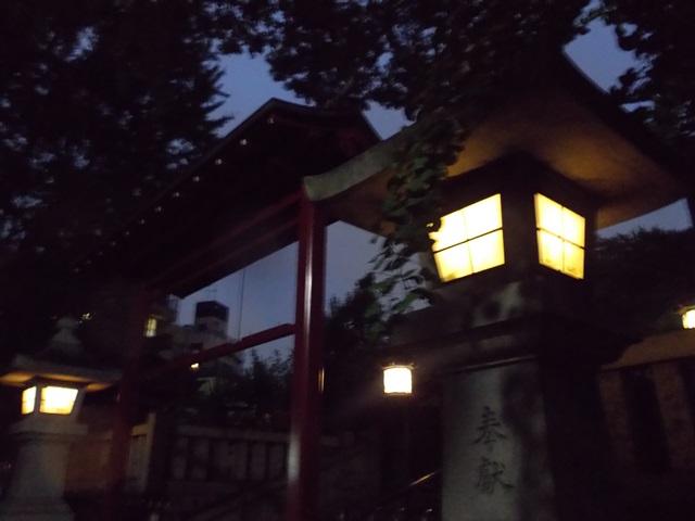 夜の浅草聖天様
