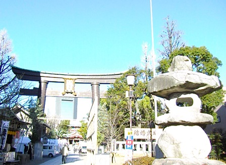 富岡八幡宮入り口