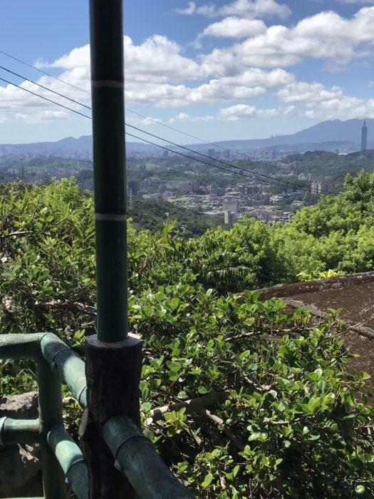茶館から茶畑と台北市内