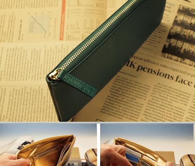 緑色財布中が金色