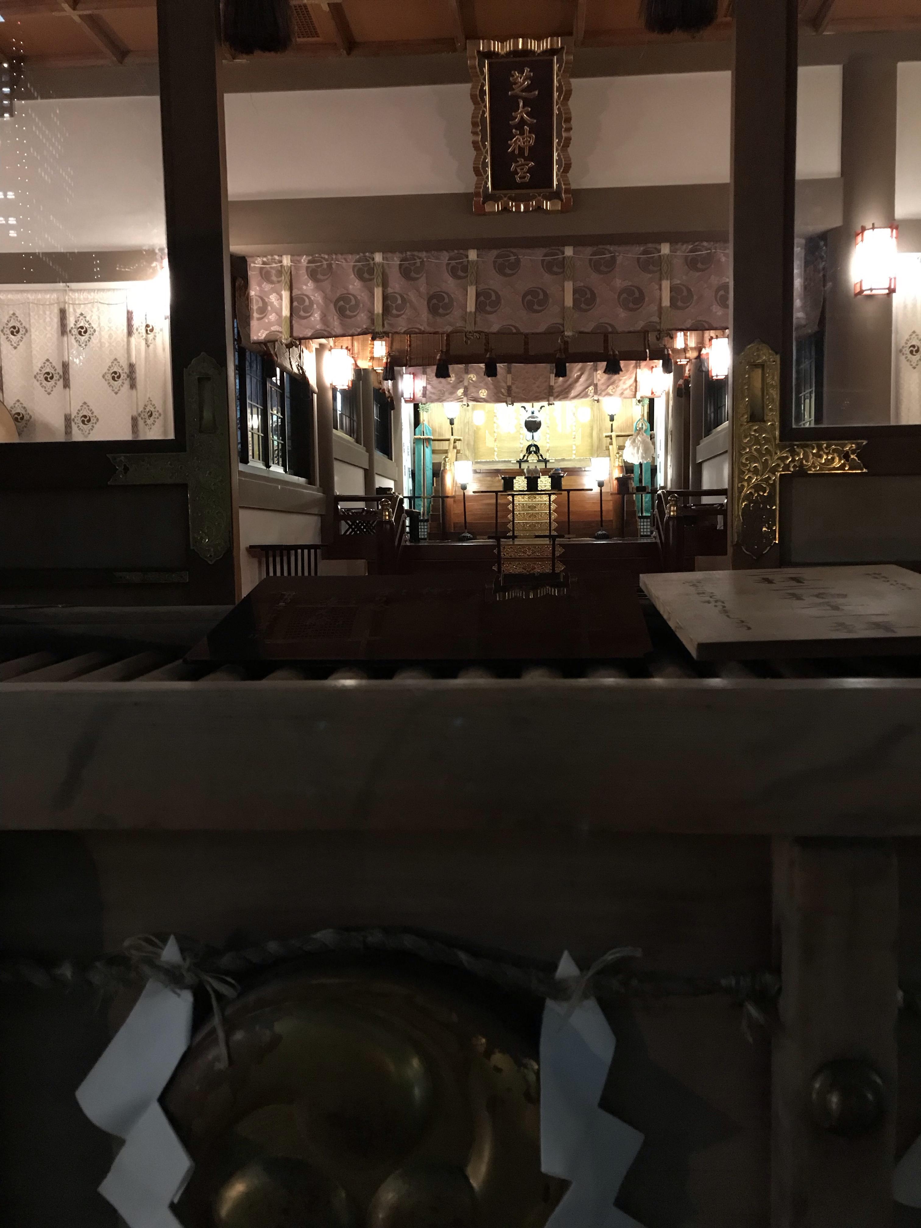 芝大神宮拝殿