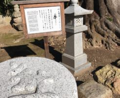 龍興寺道鏡塚の梵字