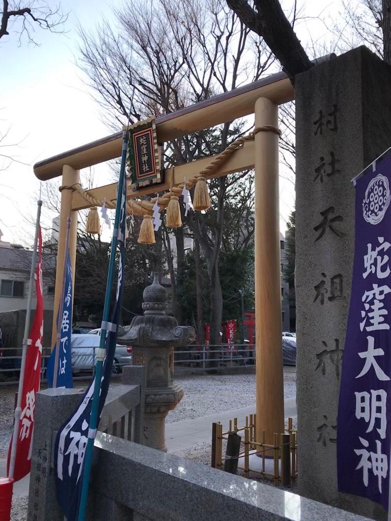蛇窪神社の新しい鳥居